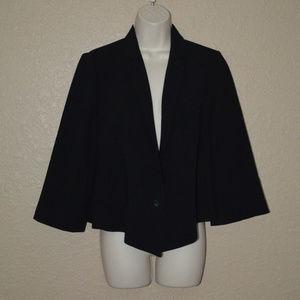 Sz 4 Elizabeth & James Black Cropped Blazer Jacket